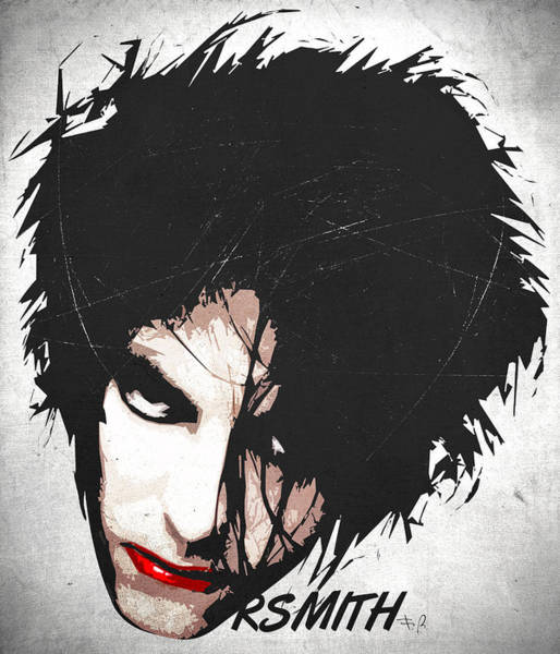 Glam Rock Digital Art - Robert Smith by Filippo B