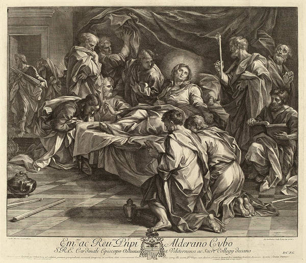 Wall Art - Drawing - Robert Van Audenaerd After Carlo Maratta Flemish by Quint Lox