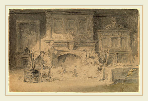 Wall Art - Drawing - Robert Walter Weir, Study For The Bailey Family by Litz Collection