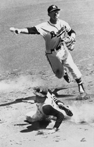Wall Art - Photograph - Roberto Clemente Sliding by Underwood Archives