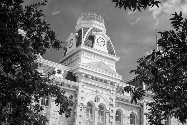 Photograph - Robertson County Courthouse Bw by Joan Carroll