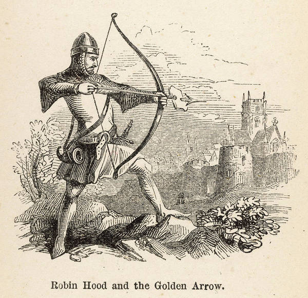 The Specials Drawing - Robin Hood And The Golden Arrow by Mary Evans Picture Library
