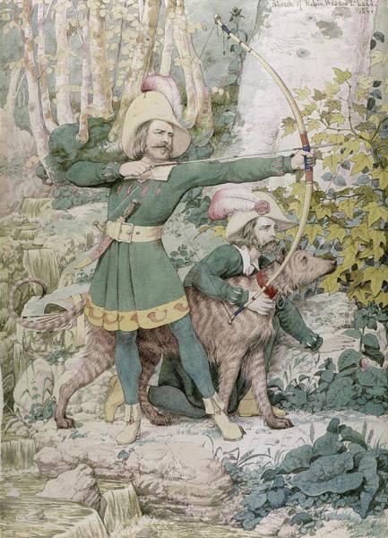 Archery Wall Art - Painting - Robin Hood by Richard Dadd