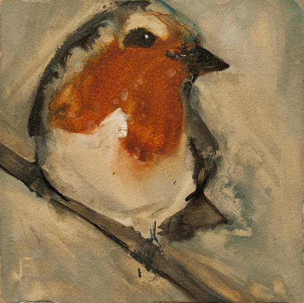 Painting - European Robin by Jani Freimann
