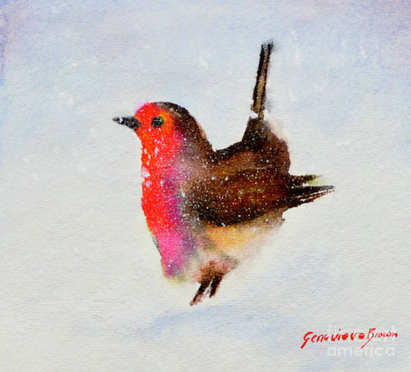 Painting - Robin Redbreast by Genevieve Brown