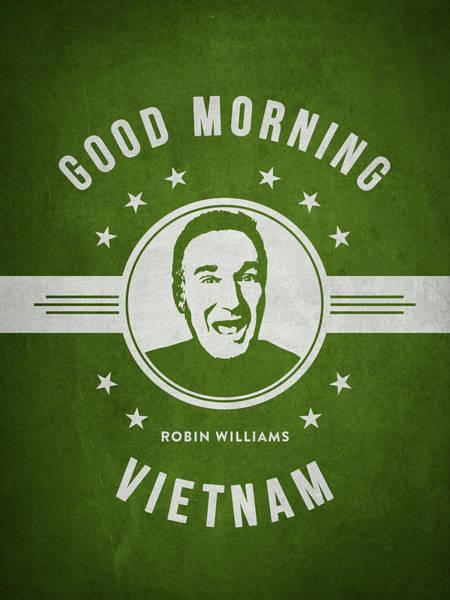 Wall Art - Digital Art - Robin Williams - Green by Aged Pixel