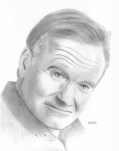 Drawing - Robin Williams by Pat Moore
