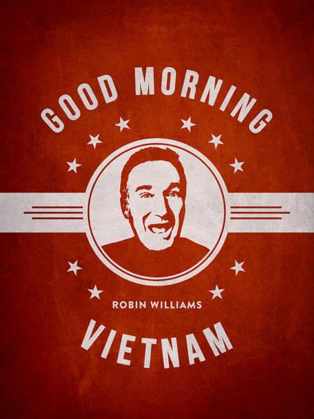 Wall Art - Digital Art - Robin Williams - Red by Aged Pixel