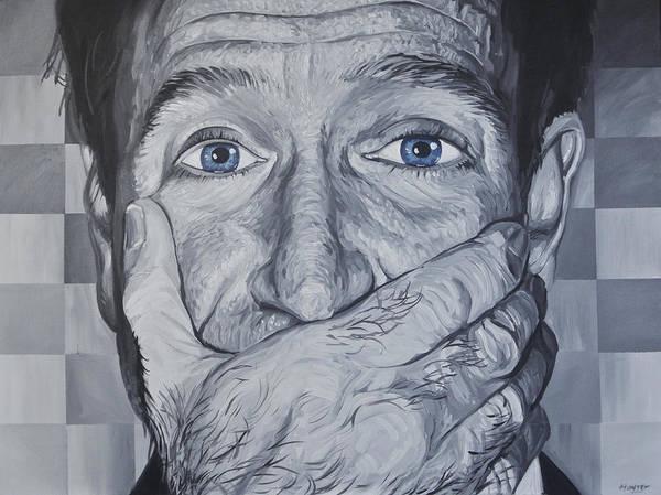 Mono Painting - Robin Williams by Steve Hunter