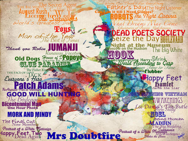 Museum Digital Art - Robin Williams Tribute by Patricia Lintner