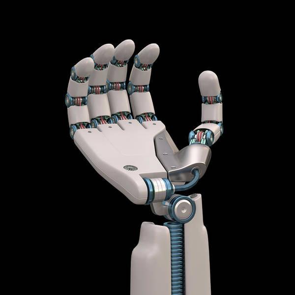 3 Dimensional Wall Art - Photograph - Robotic Hand by Ktsdesign