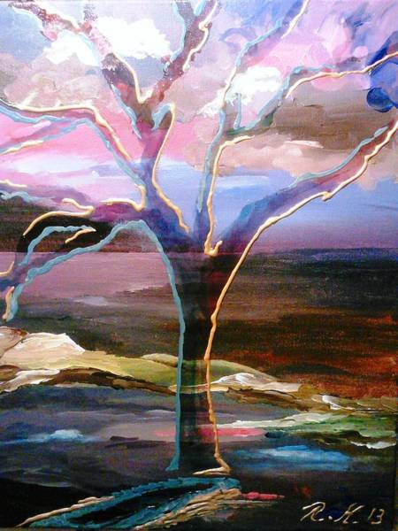Painting - Robust Tree by Ray Khalife