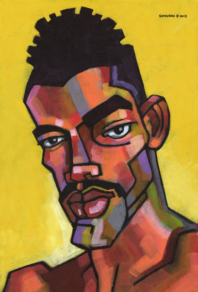 Mustache Painting - Rocco by Douglas Simonson