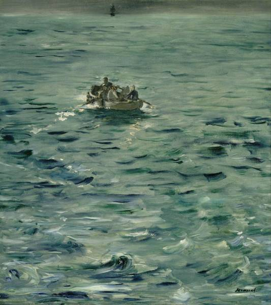 Wall Art - Painting - Rochefort's Escape by Edouard Manet