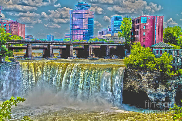 Bill Norton Wall Art - Photograph - Rochester High Falls by William Norton