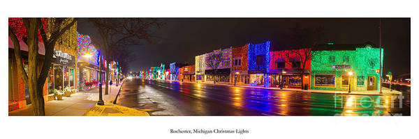 Rochester Photograph - Rochester Michigan Christmas Lights by Twenty Two North Photography