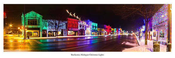 Rochester Photograph - Rochester Michigan Holiday Lights by Twenty Two North Photography
