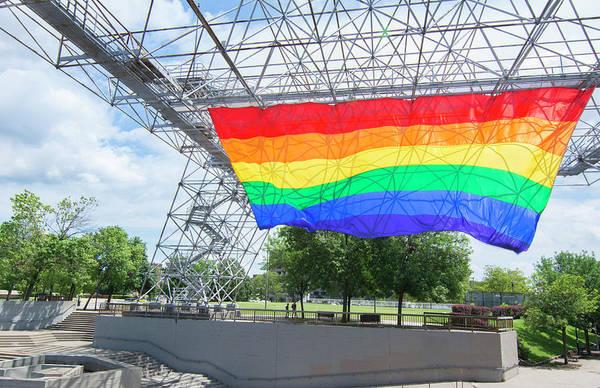 Pride Festival Photograph - Rochester, New York, Gay Rainbow Flag by Bill Bachmann