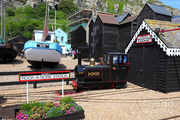Photograph - Rock A Nore Station Hastings  by James Brunker