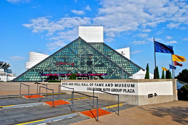 Jim Richards Photograph - Rock And Roll Hall Of Fame by Frozen in Time Fine Art Photography