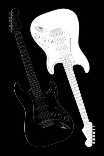 Music Wall Art - Digital Art - Rock And Roll Yin Yang by Mike McGlothlen