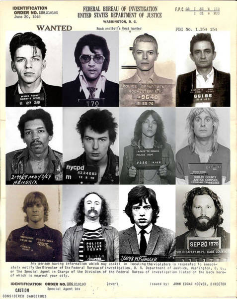 Sex Photograph - Rock And Roll's Most Wanted - Part II by Lee Dos Santos