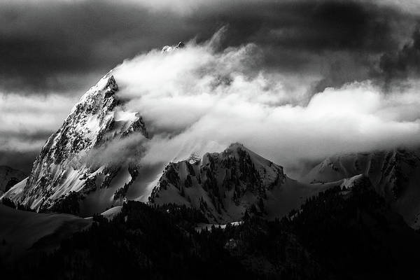 Mountain Peak Wall Art - Photograph - Rock And Wind by S?bastien Cheminade