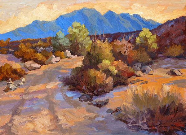 Desert Scene Painting - Rock Cairn At La Quinta Cove by Diane McClary