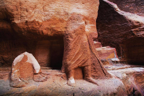 Art And Craft Photograph - Rock Carved Into The Lower Half Of A by Reynold Mainse / Design Pics