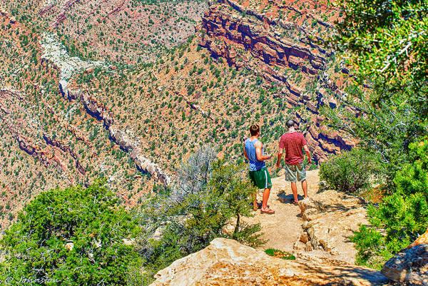 Photograph - Rock Climbing And Hiking The Grand Canyon by Bob and Nadine Johnston
