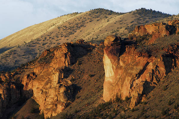 Crooked River Photograph - Rock Climbing In Smith Rock State Park by Rich Wheater
