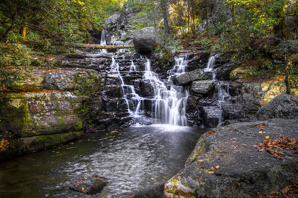 Chilhowee Photograph - Rock Creek Falls by Debra and Dave Vanderlaan
