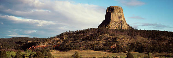 Wall Art - Photograph - Rock Formation, Devils Tower, Devils by Panoramic Images