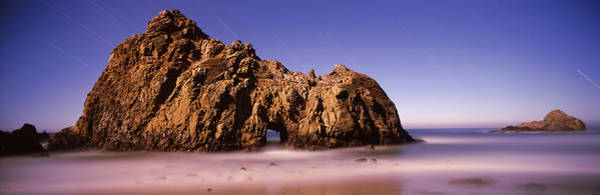 Peacefulness Photograph - Rock Formation On The Beach, One Hour by Panoramic Images