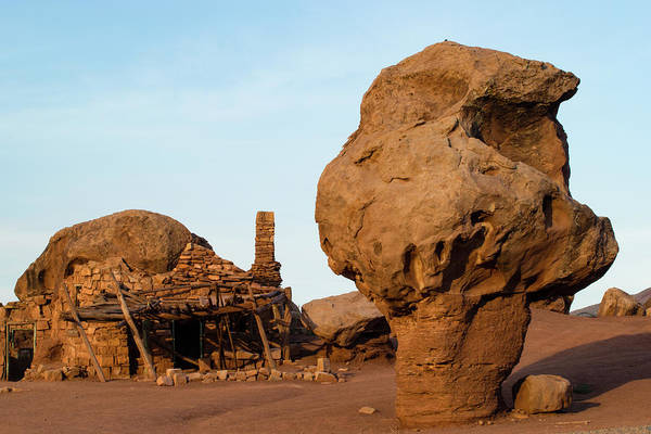 Vermilion Cliffs National Monument Wall Art - Photograph - Rock Formations And Abandoned Building by Panoramic Images
