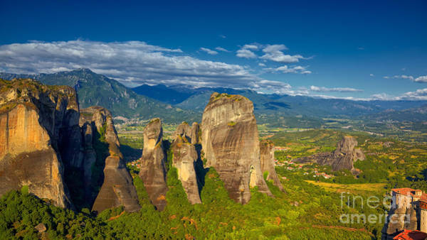 Wall Art - Photograph - Rock Formations At Meteora by Gabriela Insuratelu