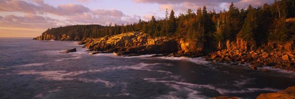 Mount Desert Island Photograph - Rock Formations At The Coast, Monument by Panoramic Images