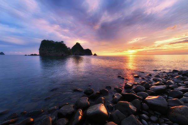 Japanese Culture Photograph - Rock Formations During Sunset In West by Agustin Rafael C. Reyes