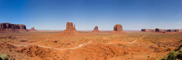 The Mitten Photograph - Rock Formations In A Desert, Monument by Panoramic Images