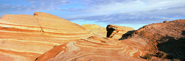 Valley Of Fire Photograph - Rock Formations In A Valley, Valley by Panoramic Images