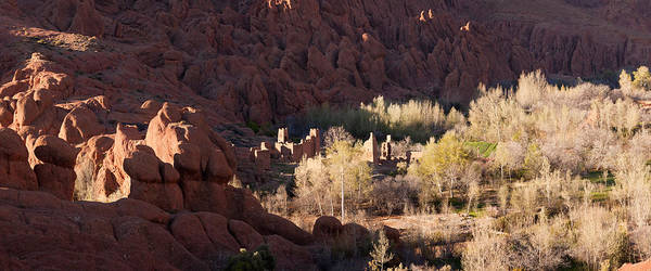 Dade Photograph - Rock Formations In The Dades Valley by Panoramic Images