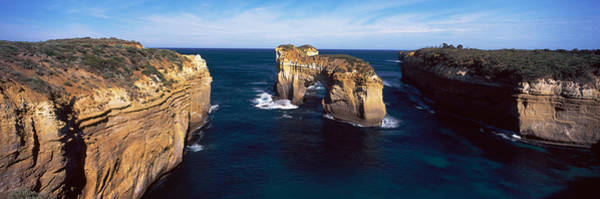 Loch Ard Photograph - Rock Formations In The Ocean, Campbell by Panoramic Images