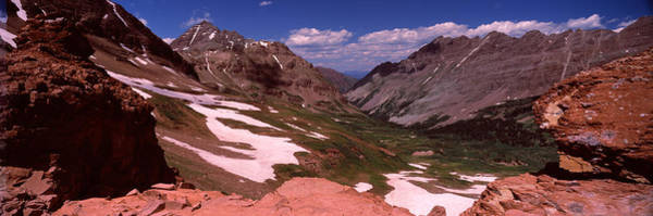 Bell Rock Photograph - Rock Formations, Maroon Bells, West by Panoramic Images