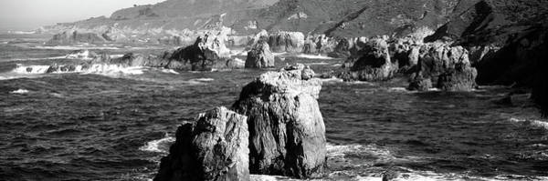 Monterey Bay Photograph - Rock Formations On The Beach, Big Sur by Panoramic Images