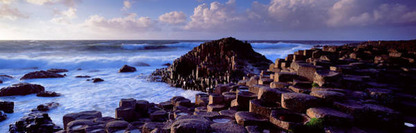 County Antrim Wall Art - Photograph - Rock Formations On The Coast, Giants by Panoramic Images