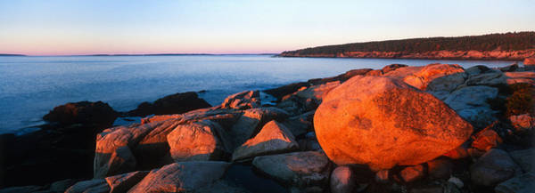 Mount Desert Island Photograph - Rock Formations On The Coast, Otter by Panoramic Images