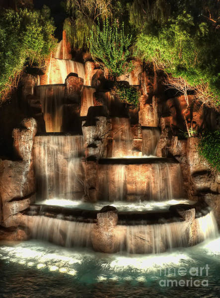 Photograph - Rock Fountain At The Wynn by Eddie Yerkish