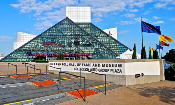 Strat Photograph - Rock Hall Of Fame by Frozen in Time Fine Art Photography