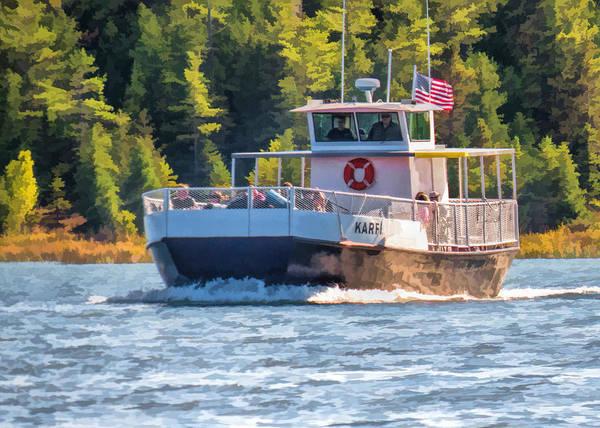 Painting - Rock Island Karfi Ferry In Door County by Christopher Arndt
