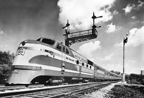 Stationary Photograph - Rock Island Line Rocket Train by Underwood Archives
